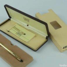 Bolígrafos antiguos: BOLÍGRAFO CROSS CHAPADO EN ORO DE 10K. Lote 267610659
