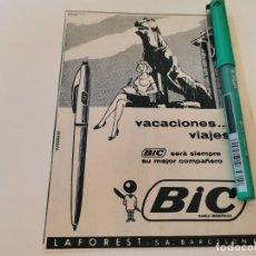 Bolígrafos antiguos: BOLI BOLÍGRAFO BIC ANUNCIO PUBLICIDAD REVISTA AÑO 1965. Lote 269268423