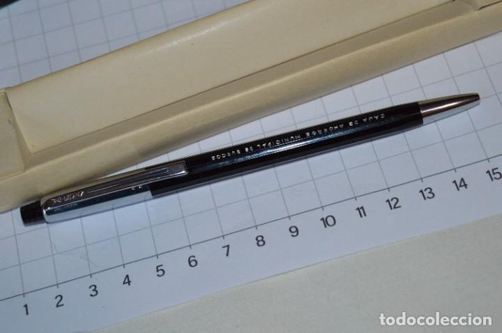 """Bolígrafos antiguos: Antiguo WATERMAN Tip FLAIR - Publicidad """"CAJA de AHORROS MUNICIPAL de BURGOS"""" - ¡Mira, NUEVO, CAJA! - Foto 3 - 274421273"""