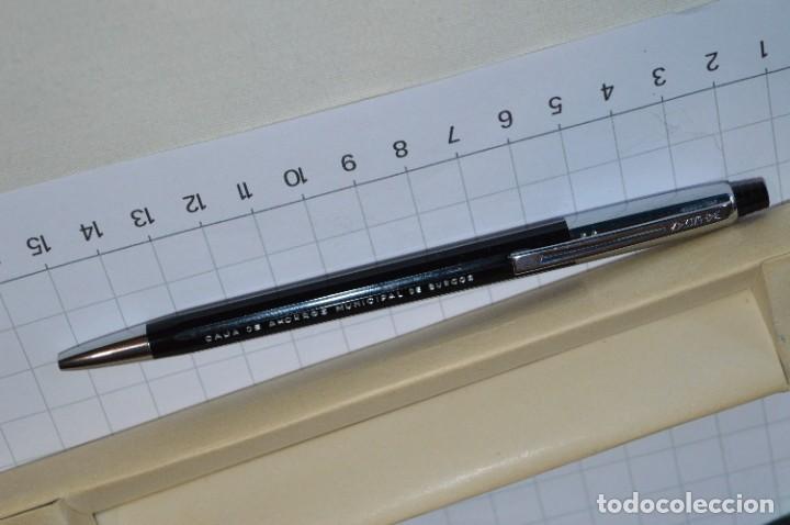 """Bolígrafos antiguos: Antiguo WATERMAN Tip FLAIR - Publicidad """"CAJA de AHORROS MUNICIPAL de BURGOS"""" - ¡Mira, NUEVO, CAJA! - Foto 4 - 274421273"""