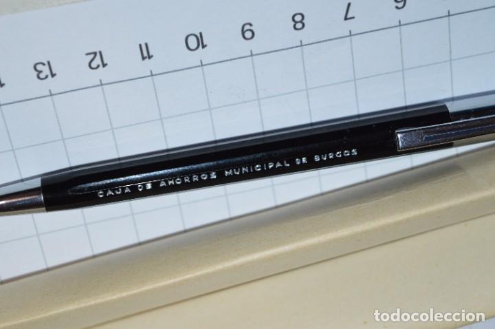 """Bolígrafos antiguos: Antiguo WATERMAN Tip FLAIR - Publicidad """"CAJA de AHORROS MUNICIPAL de BURGOS"""" - ¡Mira, NUEVO, CAJA! - Foto 5 - 274421273"""