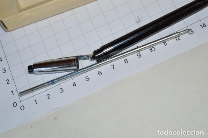 """Bolígrafos antiguos: Antiguo WATERMAN Tip FLAIR - Publicidad """"CAJA de AHORROS MUNICIPAL de BURGOS"""" - ¡Mira, NUEVO, CAJA! - Foto 6 - 274421273"""