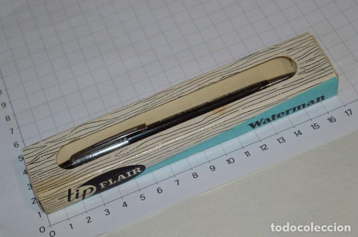 """Bolígrafos antiguos: Antiguo WATERMAN Tip FLAIR - Publicidad """"CAJA de AHORROS MUNICIPAL de BURGOS"""" - ¡Mira, NUEVO, CAJA! - Foto 2 - 274421273"""