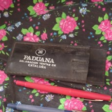 Bolígrafos antiguos: BOLIGRAFOS MANTAS PADUANA DELEGACIÓN DE CATALUÑA AÑOS 70. Lote 276715033