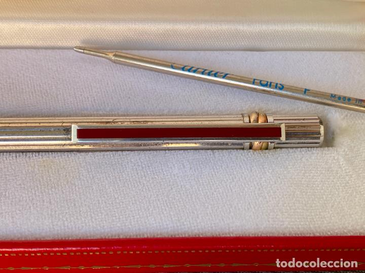 Bolígrafos antiguos: CARTIER BOLIGRAFO EN CAJA , GARANTIA DE 1987 , TRINITY , PLATEADO - Foto 5 - 288390778