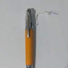 Bolígrafos antiguos: BOLIGRAFO STYPEN COLOR NARANJA.. Lote 288727818
