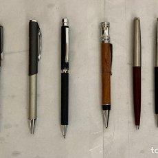 Bolígrafos antiguos: LOTE 9 BOLÍGRAFOS , CALIDAD , METÁLICOS , RESINA, MADERA , PUBLICIDAD O NO !. Lote 289826248