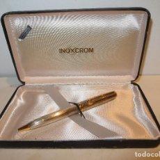 Bolígrafos antiguos: BOLIGRAFO INOXCROM SIROCCO DE PLATA MACIZA EN SU CAJA MUY BUEN ESTADO. Lote 293513743