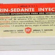 Botellas antiguas, cajas y envases: ANTIGUA CAJA DE CARTON DE MEDICAMENTO CON PUBLICIDAD DE FARMACIA . Lote 1764923