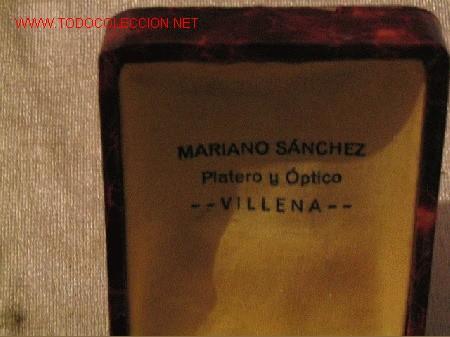 MARIANO SANCHEZ - VILLENA - PLATERO Y OPTICO (Coleccionismos - Botellas y Bebidas)