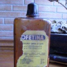 Botellas antiguas: FRASCO DE OFETINA . CONTRA LA CASPA. LABORATORIOS O.F.E.. Lote 22516887
