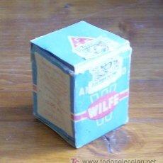 Botellas antiguas: BOTE DE POLVO ANTIBIOTICO WILFE . LABORATORIOS F.F.F. MADRID.. Lote 21218572