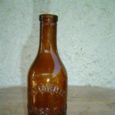 Botellas antiguas: FRASCO LINIMENTO ALONSO OJEA VALLADOLID LETRAS EN RELIEVE. Lote 6199205
