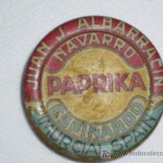Botellas antiguas: CAJA PARA PIMENTON PAPRIKA DIAMETRO 55. Lote 5608471