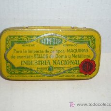 Botellas antiguas: CAJA METALICA PARA LIM-TIP TAMAÑO 75X40. Lote 5608566