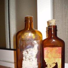Botellas antiguas: 2 FRASCOS DE BRONQUIDIAZINA DE LABORATORIOS FAES. . Lote 25778611