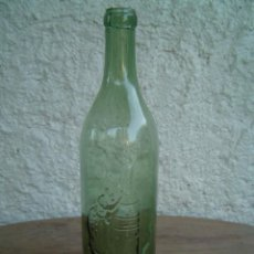 Botellas antiguas: BOTELLA COÑAC CABALLERO LETRAS EN RELIEVE. Lote 16236628