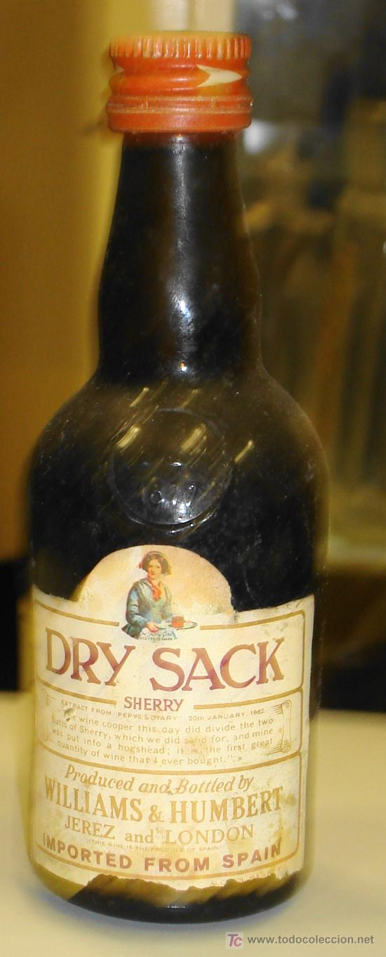 Botellin De Dry Sack Sherry Williams Humbert Buy Antique Bottles At Todocoleccion 7817740