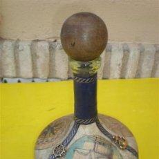 Botellas antiguas: BOTELLA DECORACION MARINA. Lote 8633989