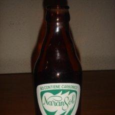 Botellas antiguas: BOTELLA DE ZUMO / REFRESCO NARANSOL DE LIMÓN (AÑOS 60) - ENVASE PROVISIONAL - RARO. Lote 26561439