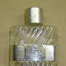 Botellas antiguas: FRASCO VACIO AFTER SHAVE LOTION EAU SAUVAGE-CHRISTIAN DIOR 50 ML.. Lote 11791185