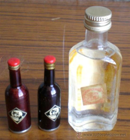 Botellas antiguas: TRES BOTELLAS de licor - Foto 2 - 17766582