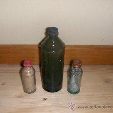Botellas antiguas: 3 ANTIGUOS BOTES DE SIDOL.. Lote 21197369