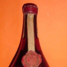 Botellas antiguas: BOTELLA DE LICOR ITALIANO SANTA VITTORIA. DESTILERIAS MONOPOLIO DE LA SOC. AN.F CINZANO & Cª. TORINO. Lote 25226888