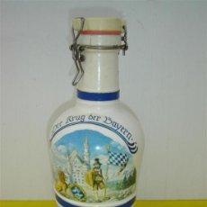 Botellas antiguas: BOTELLA DE CRISTAL ALEMAN. Lote 15233899