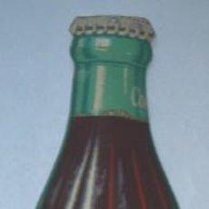 Botellas antiguas: BOTELLA PUBLICIDAD COCA COLA CON TERMOMETRO. Lote 26777711