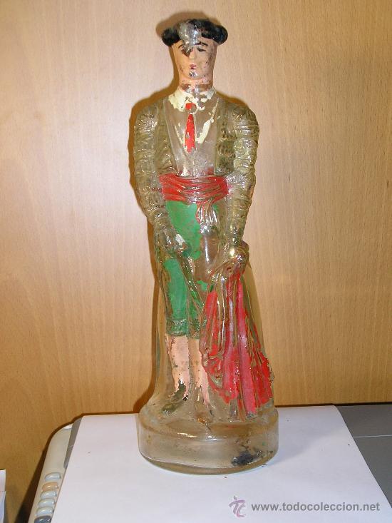 BOTELLA DE LICOR EN FORMA DE TORERO - ANTIGUA- (Coleccionismo - Botellas y Bebidas - Botellas Antiguas)