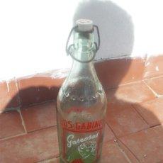 Botellas antiguas: GASEOSA LOS GABINOS, VILLANUEVA DE LOS INFANTES.. Lote 27284988