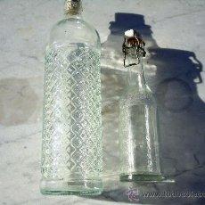 Botellas antiguas: ANTIGUAS BOTELLAS DE CRISTAL. Lote 27561834