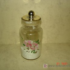 Botellas antiguas: BONITO TARRO CON SALES . Lote 16531604