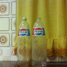 Botellas antiguas: LOTE DE 2 BOTELLAS DE CRISTAL PEPSI-COLA DE 1,5 LITROS .. Lote 27077891