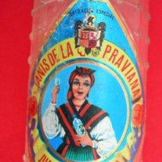 Botellas antiguas: BOTELLA 1/2 LITRO ANÍS DE LA PRAVIANA OVIEDO. Lote 17882418