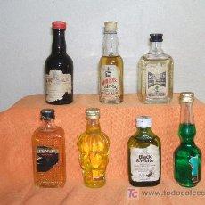 Botellas antiguas: LOTE DE 7 ANTIGUAS BOTELLITAS.. Lote 26562174
