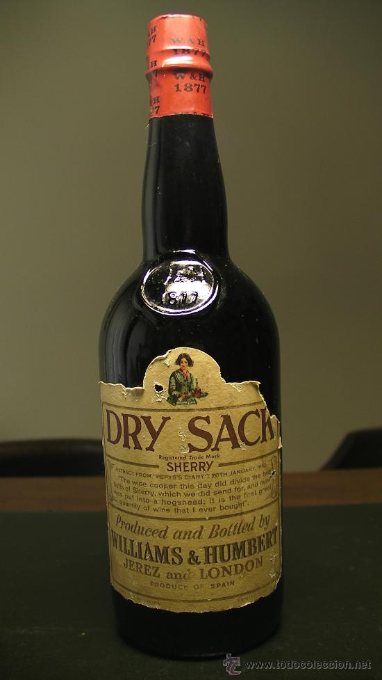 Botella De Dry Sack Sherry Williams Humbert Je Buy Antique Bottles At Todocoleccion 26644953