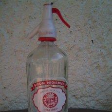 Botellas antiguas: SIFON SIFON HIGIENICO JUAN COMAS LLAGOSTERA SERIGRAFIADO. Lote 19990076