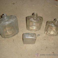 Botellas antiguas: ANTIGUOS 4 BOTES DE CRISTAL DE COLONIA . AÑOS 50. Lote 22427966