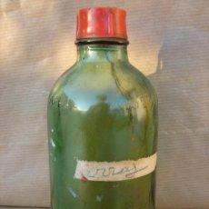 Botellas antiguas: ANTIGUA BOTELLA CRISTAL - AGUA OXIGENADA FORET - CON TAPON PLASTICO. Lote 24276620