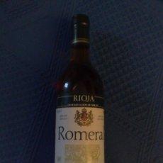 Botellas antiguas: BOTELLA VINO BLANCO ROMERAL RIOJA DENOMINACION ORIGEN 1989 70 CL. Lote 24757414