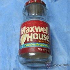 Botellas antiguas: ANTIGUO FRASCO MAXWELL HOUSE U.S.A GOOD TO THE LAST DROP. Lote 26255729