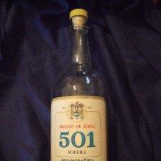 Botellas antiguas: BOTELLA BRANDY DE JEREZ 501 - SOLERA - CARLOS Y JAVIER DE TERRY - PUERTO SANTA MARIA - 2 LITROS. Lote 26421566