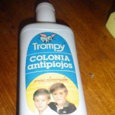 Botellas antiguas: COLONIA ANTIPIOJOS Y TALCO PERFUMADO TROMPY. FABRICADO POR AROM SA, MOLINA MURCIA.. Lote 36202852