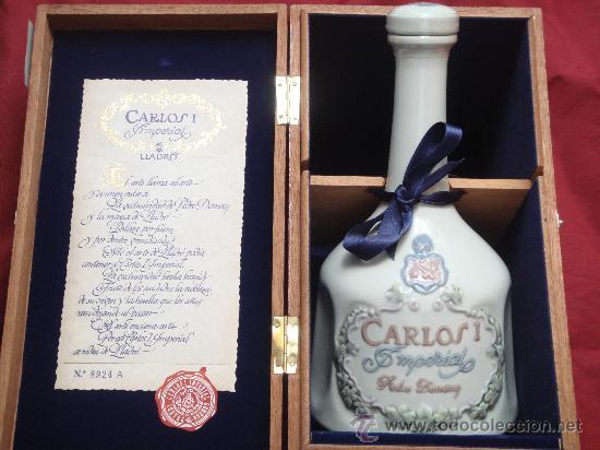 BOTELLA DE LLADRO DE BRANDY CARLOS I IMPERIAL (Botellas y Bebidas - Botellas Antiguas)