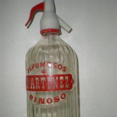 Botellas antiguas: ANTIGUO SIFÓN *ESPUMOSOS MARTINEZ* PINOSO-ALICANTE, SERIGRAFIADO. Lote 25927397