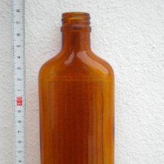 Botellas antiguas: BOTELLA FARMACIA, LABORATORIOS FAES, COLOR AMBAR, LETRAS RELIEVE. Lote 26412229