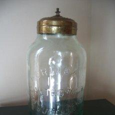 Botellas antiguas: ANTIGUO BOTE DE CRISTAL.. Lote 26995737