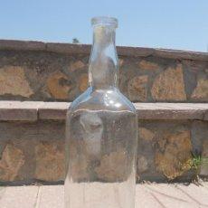 Botellas antiguas: ANTIGUA BOTELLA DE CRISTAL TRANSPARENTE DE 1 LITRO.. Lote 27106886